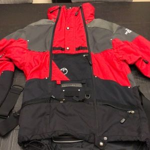 Red & Black The North Face Steep Tech Coat
